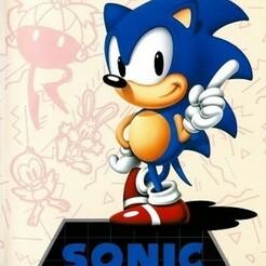 sonic1_md_eu.jpg Télécharger fichier STL gratuit LITHOPHANE Cover Sonic the Hedgedog Sega Megadrive • Modèle à imprimer en 3D, RustyVince