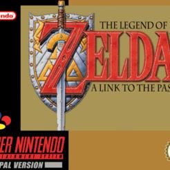 Jaquette Zelda Snes pal.png Télécharger fichier STL gratuit LITHOPHANE Cover Zelda Link to the past SNES Nintendo • Objet pour imprimante 3D, RustyVince