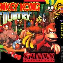 Donkey Kong Country (USA) (Alt).png Télécharger fichier STL gratuit LITHOPHANE Cover Donkey Kong Country SNES • Modèle pour imprimante 3D, RustyVince