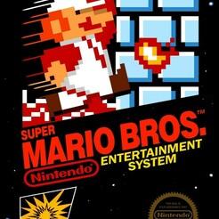 nes_supermariobros.jpg Télécharger fichier STL gratuit LITHOPHANE Cover Super Mario Bros NES Nintendo • Objet pour imprimante 3D, RustyVince