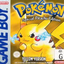 Pokemon - Yellow Version - Special Pikachu Edition (Europe).png Télécharger fichier STL gratuit LITHOPHANE Cover Pokemon Pikachu Edition Gameboy Nintendo • Plan pour impression 3D, RustyVince