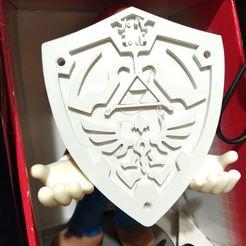 DSC_0265.JPG Télécharger fichier STL gratuit Bouclier Zelda Ocarina of Time N64 (shield) • Plan pour impression 3D, RustyVince
