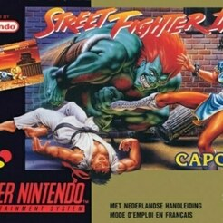 jaquette street_fighter 2.jpg Download free STL file LITHOPHANE Cover Street Fighter 2 SNES Nintendo • Design to 3D print, RustyVince