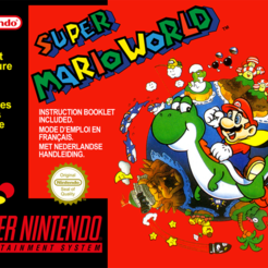 Super_Mario_World.png Télécharger fichier STL gratuit LITHOPHANE Cover Super Mario World SNES Nintendo • Modèle imprimable en 3D, RustyVince