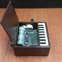 Objet 3D Piano Music Box perforeuse, drk0027