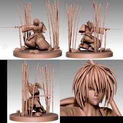 Download free 3D printer designs Kenshin Himura Battosai, 3DArt