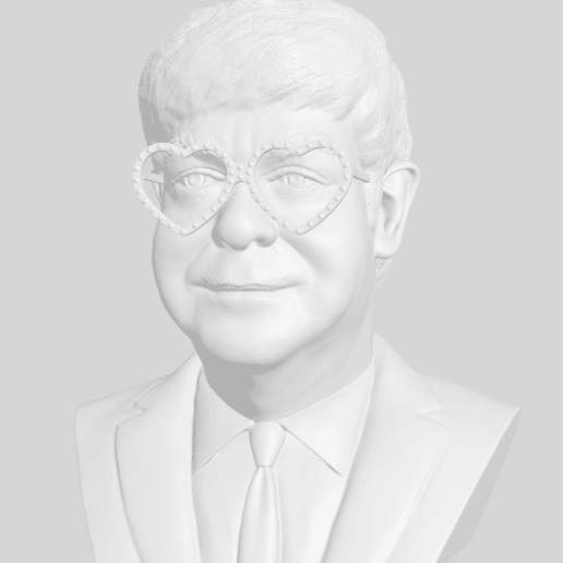 Download free 3D printer designs Elton John bust, 3DArt