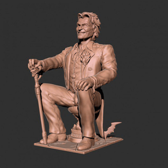 Download free 3D printer templates Joker statue, 3DArt