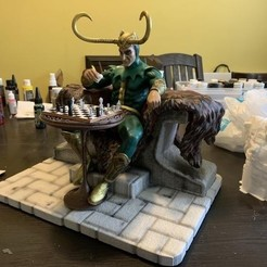 Download free STL files Loki and the Chess Board, 3DArt