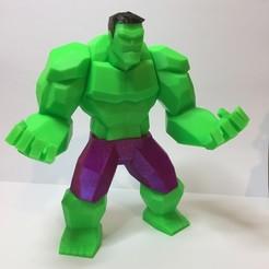 STL Low Poly Hulk, gabrielgagetti