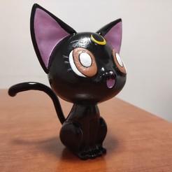 IMG_20201022_182050.jpg Download STL file Moon Cat - Sailor Moon • Design to 3D print, Dagga3D