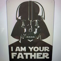Download 3D print files Star Wars Darth Vader I am your father Wall Hanging, jwmustanggt