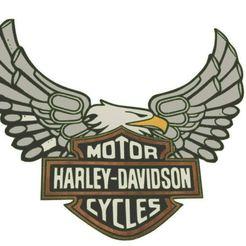 Harley logo eagle pipes.JPG Download STL file Harley logo with eagle pipes • 3D printable template, jwmustanggt