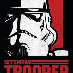 Télécharger modèle 3D Star Wars Storm Trooper Trooper accroché au mur, jwmustanggt