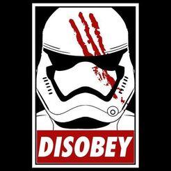 Télécharger fichier imprimante 3D Star Wars Storm Trooper Trooper Obéir à la pendaison murale, jwmustanggt