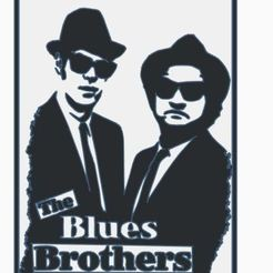 Download STL files The Blues Brothers wall hanging, jwmustanggt