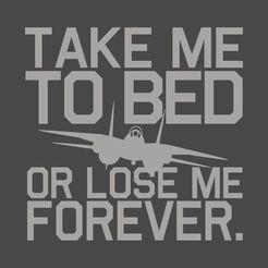 Download 3D model Top Gun take me to bed wall hanging, jwmustanggt