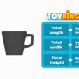 Download free 3D printer designs ToyKing cup , Toyking