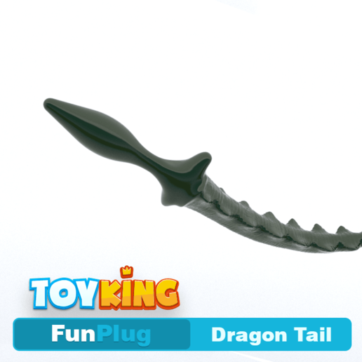 Download 3D printer designs Dragon tail - Buttplug, Toyking