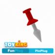 Download 3D printer designs Pin plug - Buttplug, Toyking