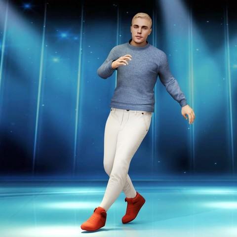 Download 3D print files Justin Bieber rigged animation, tranduyhieu
