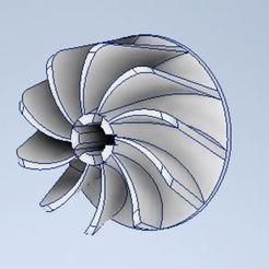 Capture.JPG Télécharger fichier STL Turbocharger Impeller • Modèle imprimable en 3D, Abdou91