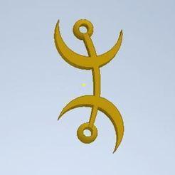 Capture.JPG Download free STL file Berber Symbol • 3D printer object, Abdou91