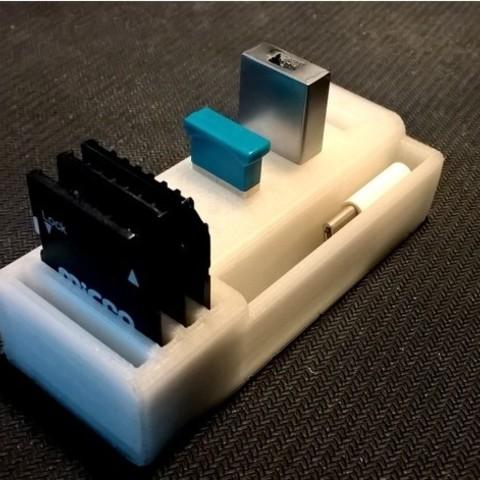 Descargar modelos 3D gratis Tarjeta SD y soporte para unidad flash USB, jolang