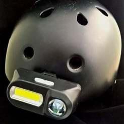 Free 3D printer designs Helmet Headlight Holder, jolang