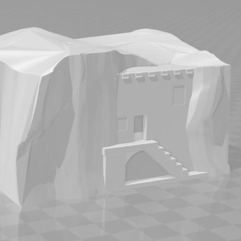 Free 3D print files House in the rocks, joseluis911