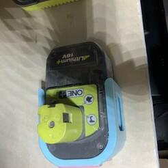 IMG_1339.JPG Télécharger fichier STL gratuit Support Batterie Ryobi • Modèle imprimable en 3D, Nivalvincent