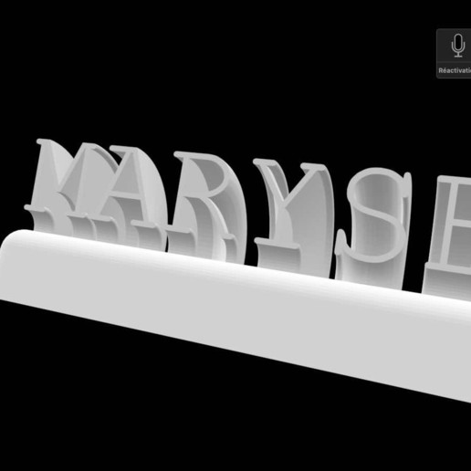 Download 3D printer designs First name in 3D, nivalvincent