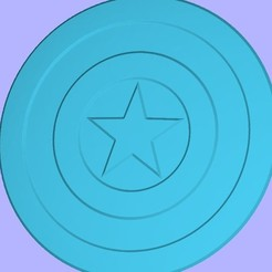 Free stl files Captain America Shield, i8bnsober