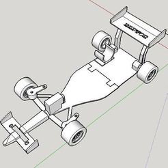 Modelos 3D para imprimir F1 Linefollower RC, NachoCotta