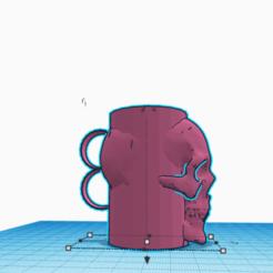 Descargar Modelos 3D para imprimir gratis taza del cráneo, thenod2001