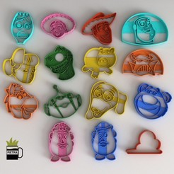 21.jpg Download STL file TOY STORY 4 FONDANT FULL COOKIE CUTTER • 3D print object, Gustavo015