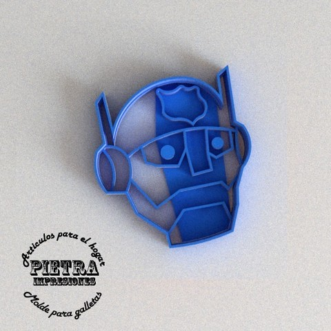 3D printer models CUTTING MOULD FOR FONDANT RESCUEBOTS CHASE TRANSFORMERS BISCUITS, Gustavo015