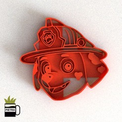 CULTS6.jpg Download STL file PAW PATROL MARSHALL FONDANT COOKIE CUTTER • Design to 3D print, Gustavo015