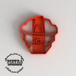 STL files CUTTING MOULD FOR FONDANT RESCUEBOTS HEATWAVE TRANSFORMERS BISCUITS, Gustavo015