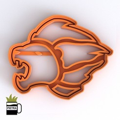 cults4.jpg Download STL file LION GUARD FONDANT COOKIE CUTTER LOGO 3D PRINT MODEL • 3D printable object, Gustavo015