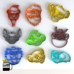 Download 3D printing templates KING LION FONDANT COOKIE CUTTER, Gustavo015