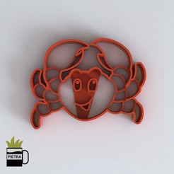 Download 3D print files CRAB FONDANT CUTTING MOULD 3D PRINT MODEL, Gustavo015