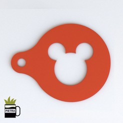 cults 9.jpg Download STL file MICKY MOUSE DISNEY TEMPLATE TO DECORATE YOUR DISNEY BREAKFASTS • 3D printing object, Gustavo015