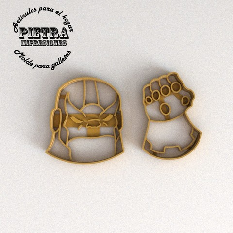 3D printer files CUTTING MOULD FOR AVENGERS TANOS BISCUITS, Gustavo015