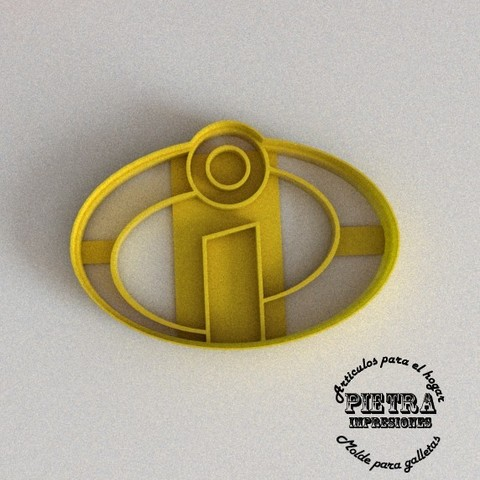 Download Stl File Fondant Cookie Cutter The Incredibles Logo 3d Printable Object Cults