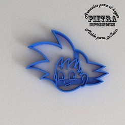 3D print files CUTTING MOULD FOR FONDANT BISCUITS DRAGON BALL GOKU CHILD, Gustavo015