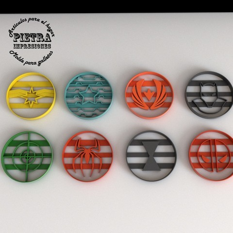 Download 3D model Avengers Cookie Cutter 2 secondary, Gustavo015