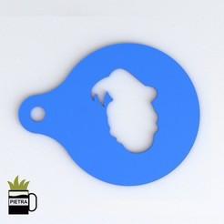 Descargar modelos 3D para imprimir DONALD DISNEY PLANTILLA PARA DECORAR TUS DESAYUNOS DISNEY, Gustavo015