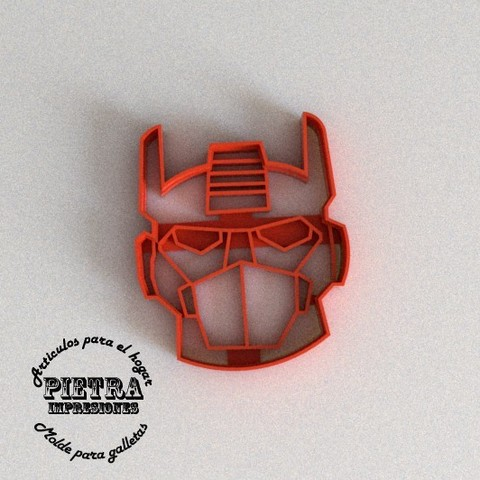 3D printer files CUTTING MOULD FOR FONDANT RESCUEBOTS OPTIMUS TRANSFORMERS BISCUITS, Gustavo015