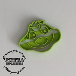 Download 3D printer designs RUDDER CUTTING MOULD FOR FONDANT EL REY LEON BISCUITS, Gustavo015